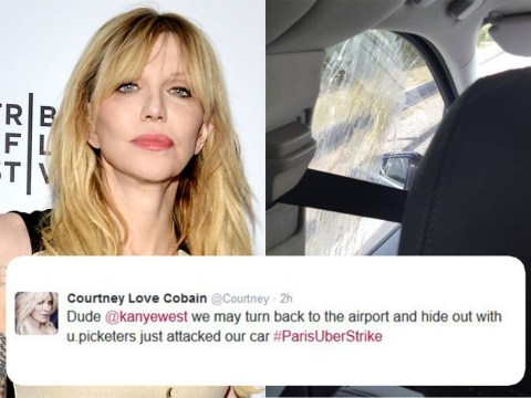 'I'm safer in Baghdad' – Courtney Love 'held hostage' as her taxi is violently attacked in France