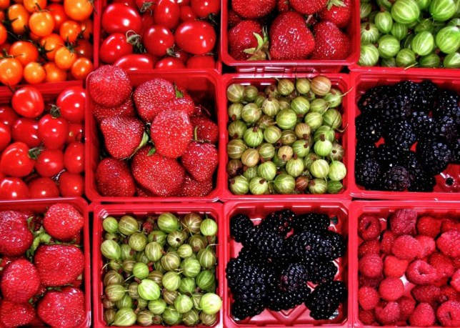 Full Frame Shot Of Various Fruits And Vegetables