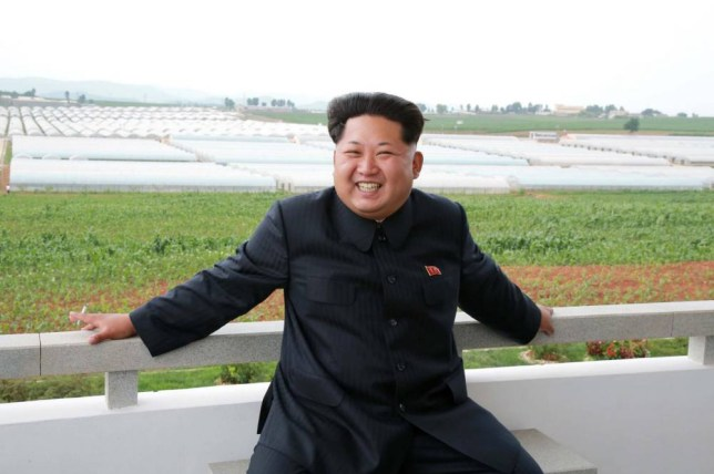 "This undated picture released from North Korea's official Korean Central News Agency (KCNA) on June 30, 2015 shows North Korean leader Kim Jong-Un inspecting the Jangchon vegetable co-op farm in Sadong district in Pyongyang.   AFP PHOTO / KCNA via KNS    REPUBLIC OF KOREA OUT THIS PICTURE WAS MADE AVAILABLE BY A THIRD PARTY. AFP CAN NOT INDEPENDENTLY VERIFY THE AUTHENTICITY, LOCATION, DATE AND CONTENT OF THIS IMAGE. THIS PHOTO IS DISTRIBUTED EXACTLY AS RECEIVED BY AFP. ---EDITORS NOTE--- RESTRICTED TO EDITORIAL USE - MANDATORY CREDIT ""AFP PHOTO / KCNA VIA KNS"" - NO MARKETING NO ADVERTISING CAMPAIGNS - DISTRIBUTED AS A SERVICE TO CLIENTSKNS/AFP/Getty Images"