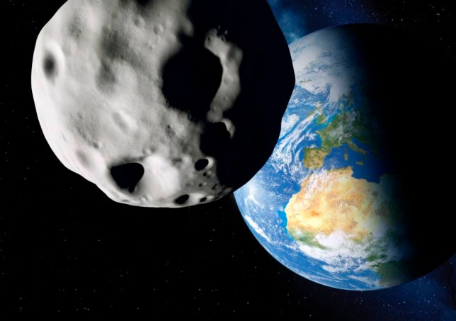 Asteroid and Earth