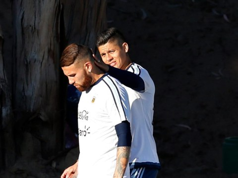 Manchester United's Marcos Rojo favourites another tweet hinting at Nicolas Otamendi transfer