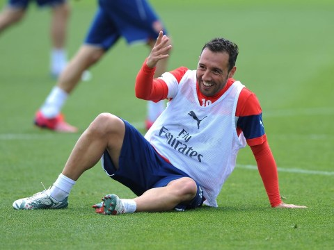 Santi Cazorla is loving his time with Arsenal and has rubbished talk of a summer transfer to Atletico Madrid