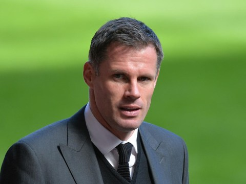 Liverpool legend Jamie Carragher has to wear Manchester United shirt for a day after losing a Paulinho bet with Gary Neville