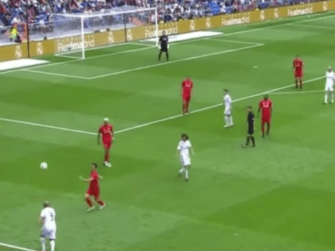 Roberto Carlos proves he's still got it with ridiculous pass during Real Madrid v Liverpool legends game