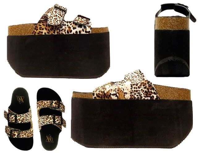dc278d878cf2 Everest leopard print platforms from Y.R.U are just ridiculous ...