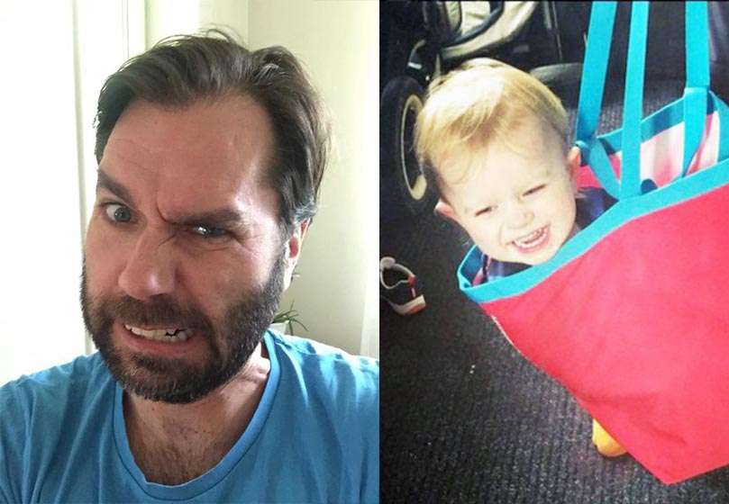 Neighbours who didn't recognise newly-bearded dad with son in bag reported 'kidnapping' to police
