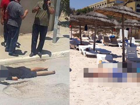 'At least 5 Britons among 37 dead' as 'gunshots and grenades' ring out at Tunisian beach resort