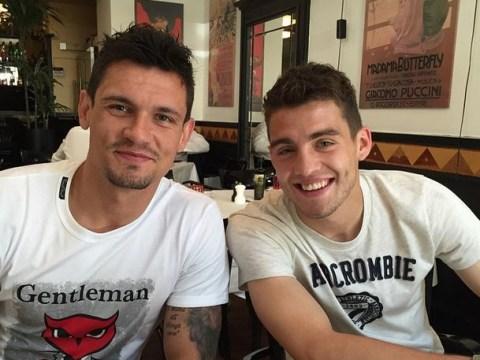Liverpool transfer target Mateo Kovacic pictured with Dejan Lovren on Instagram