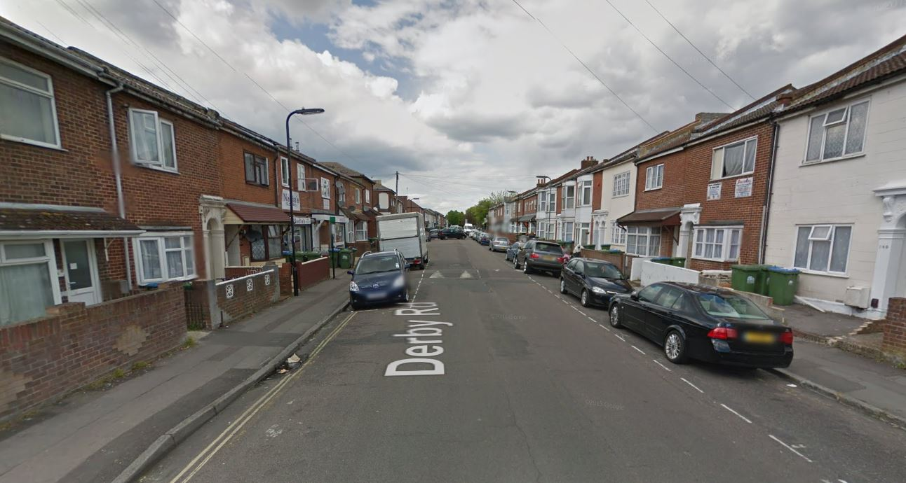 Derby Road, Southampton, where the rape is alleged to have taken place (Picture: Google Street View)
