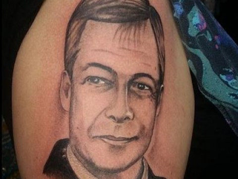 A woman got a TATTOO of NIGEL FARAGE on her arm, because nothing makes sense anymore
