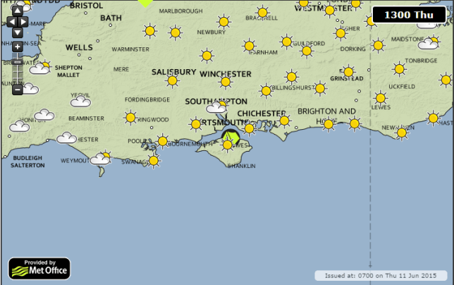Thursday is perfect festival weather (Picture: Met Office)