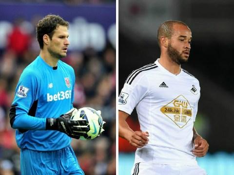 Aston Villa 'prepare £10.5m transfer double swoop for Stoke's Asmir Begovic and Swansea's Jazz Richards'