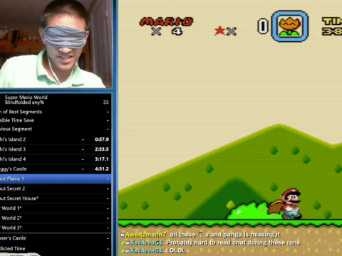 This blindfolded guy is better at Super Mario than you can ever hope to be