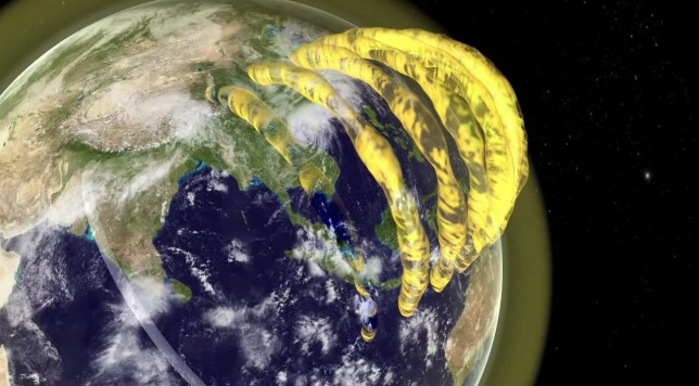 Giant plasma tubes found in SPACE: Huge structures spotted circling Earth filled with charged particles from the sun Credit: CAASTRO/Mats Björklund