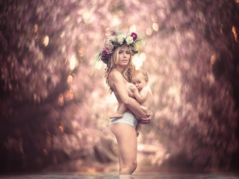 These stunning pictures show the 'pure, saintly, celestial beauty' of breastfeeding