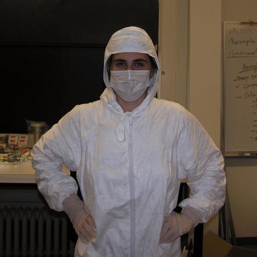 Astrophysicist Sarah Tuttle at work (Picture: Twitter/@niais)
