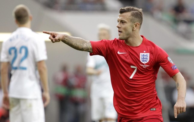 SOC: England's Jack Wilshere celebrates after scoring a goal Srdjan Zivulovic/Reuters