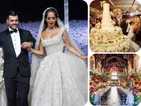 The world's most expensive weddings (yes, a $1 million budget for flowers)