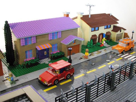 Someone has recreated the entire town of Springfield in Lego form. And it's amazing…