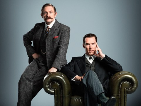 Sherlock is back! Benedict Cumberbatch and Martin Freeman reunited in first Christmas special pic