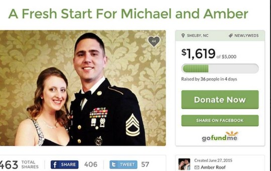 """On Saturday, a woman who appears to be the sister of alleged Charleston shooter Dylann Roof started a GoFundMe page to recover the deposits she lost by canceling her June 21 wedding after her brother's alleged massacre """"destroyed [her] dream day."""" Amber Roof's page, which also sought donations to """"pay bills, and to send us on our dream honeymoon,"""" was deleted this afternoon after raising more than $1,600.  Source: GAWKER"""
