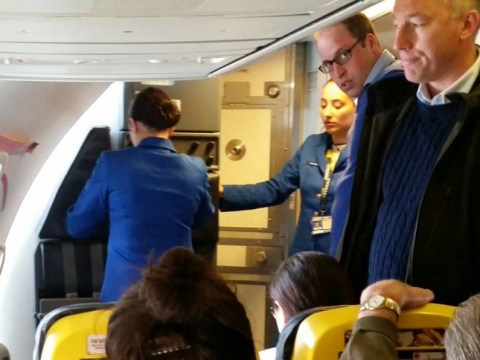 Prince William flies with Ryanair up to Glasgow