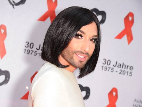 Four pictures of Conchita Wurst's short hairdo that will give you life