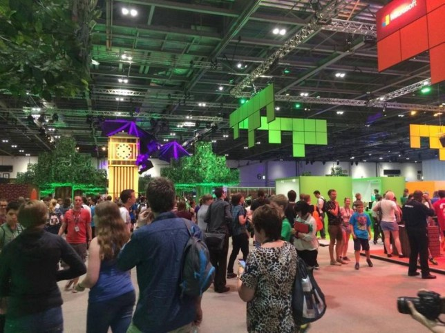 scenes at MINECON at the excel centre  Source: Twitter/@Axialmatt