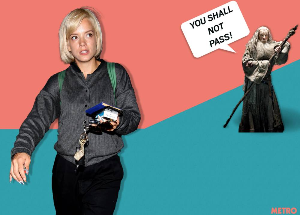Lily Allen turned away from Wireless VIP area