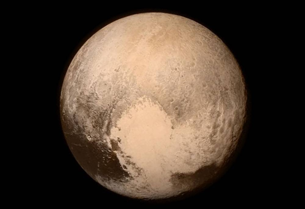 BEST QUALITY CURRENTLY AVAILABLE Handout photo issued NASA of , the dwarf planet Pluto, captured from New Horizons at about 4 pm EDT on July 13, about 16 hours before the moment of closest approach, as the craft is set to get a close up look at the last truly unexplored world in the solar system. PRESS ASSOCIATION Photo. Issue date: Tuesday July 14, 2015. New Horizons has taken more than nine years to reach Pluto, carrying with it the ashes of the astronomer who discovered the remote icy object in 1930. See PA story SCIENCE Horizons. Photo credit should read: NASA/PA Wire NOTE TO EDITORS: This handout photo may only be used in for editorial reporting purposes for the contemporaneous illustration of events, things or the people in the image or facts mentioned in the caption. Reuse of the picture may require further permission from the copyright holder.