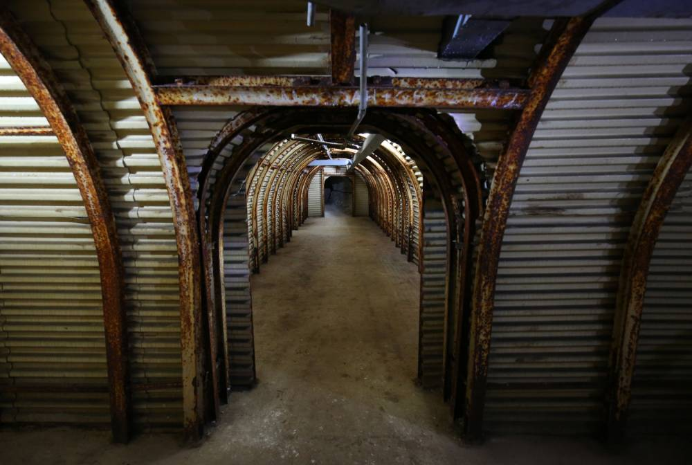 File photo dated 15/07/15 of the tunnels of the Fan Bay Deep Shelter in Dover, Kent, as they are prepared to be opened to the public following two years of National Trust conservation. PRESS ASSOCIATION Photo. Issue date: Monday July 20, 2015. Fan Bay Deep Shelter was constructed on the order of Sir Winston Churchill beneath the White Cliffs of Dover in the 1940s as part of Doverís connected offensive and defensive gun batteries, designed to prevent German shipping moving freely in the English Channel. The shelter accommodated and catered for four officers and up to 185 men of other ranks during counter bombardments, but was decommissioned in the 1950s and filled in during the 1970s. See PA story HERITAGE Tunnels. Photo credit should read: Gareth Fuller/PA Wire