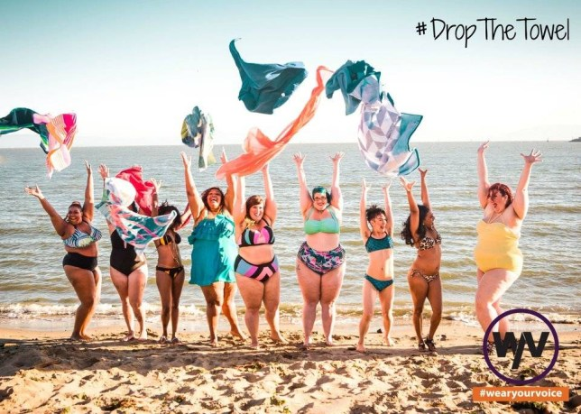 A new campaign is reminding women to show off their beautiful beach bodies and #DropTheTowel.   Created by Wear Your Voice Magazine, the #DropTheTowel campaign features people of all shapes, sizes and colors to remind women that every body is beautiful and should never be hidden.