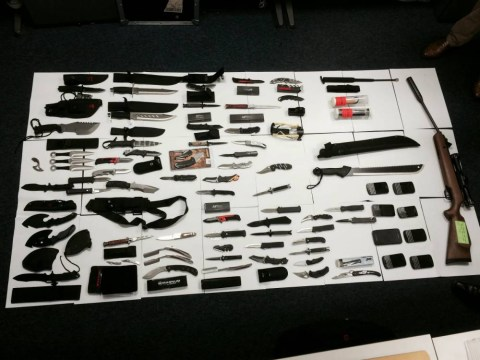 Police unearthed this MASSIVE stash of weapons in Kensington