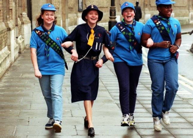New Girl Guide uniforms and 1930s version.