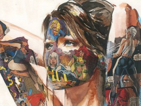 Every woman is a superhero in these incredible comic book paintings