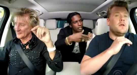 Rod Stewart A$AP Rocky carpool karaoke