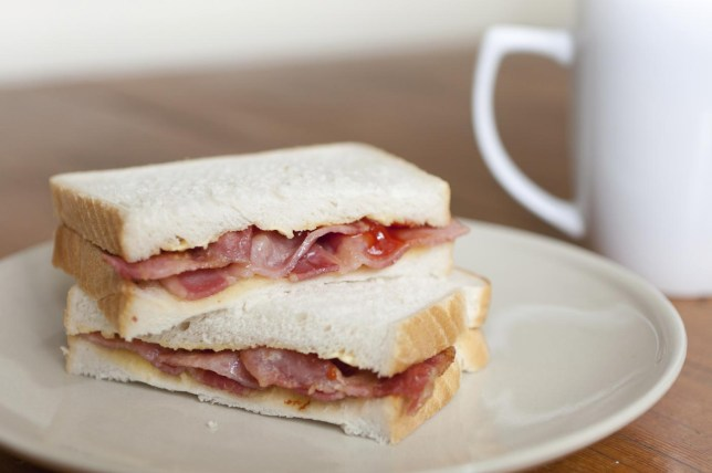 Bacon Sandwich with a hot beverage fittonadrian/fittonadrian