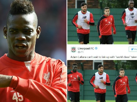 Liverpool troll Mario Balotelli by cutting him out of picture for article about 'world-class players'