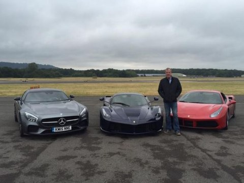Jeremy Clarkson finishes his final lap of the Top Gear test track