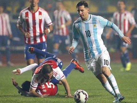 Lionel Messi is so good at football he made two defenders run into each other at Copa America 2015