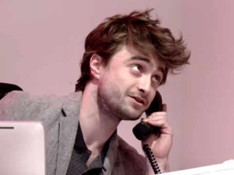 Daniel Radcliffe was a receptionist for an hour; people went crazy and Joe Jonas thought he was crap