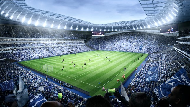 An artistÕs impression of how SpursÕ new 61,000-seat stadium in London, England.