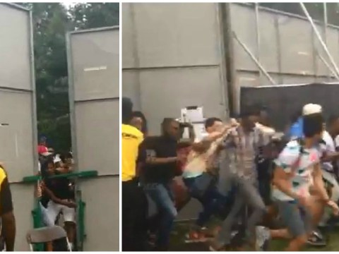 Wireless 2015: Here's the moment a bunch of gatecrashers stormed Lethal Bizzle's performance