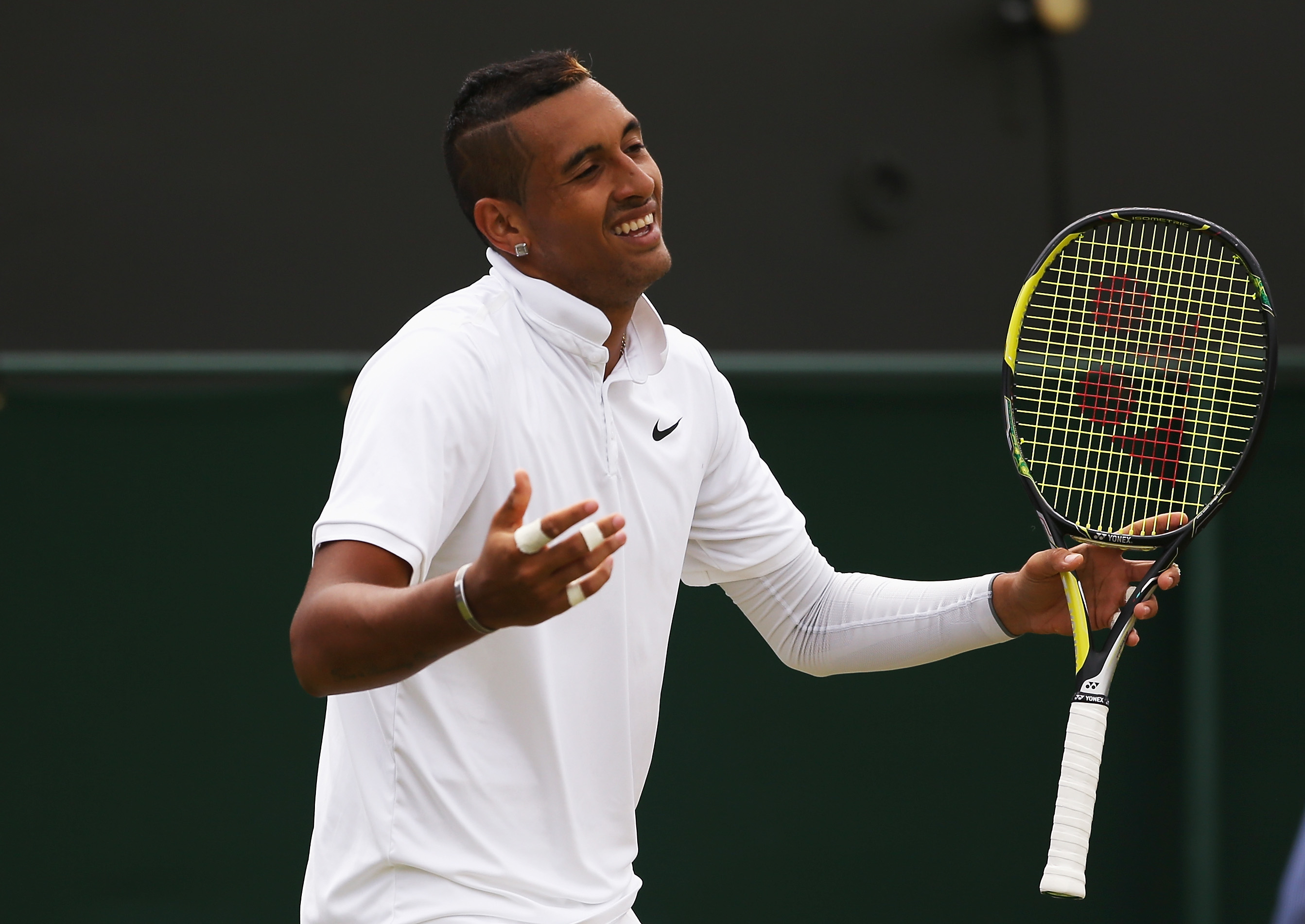 Wimbledon 2015: Nick Kyrgios loses game after refusing to try during Richard Gasquet match