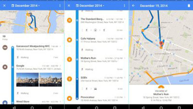 Google Maps rolling out new feature that basically lets you stalk yourself through time