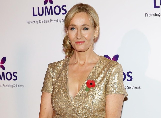 We can only wonder if JK Rowling typed with one hand (Picture: Dave J Hogan/Getty Images)
