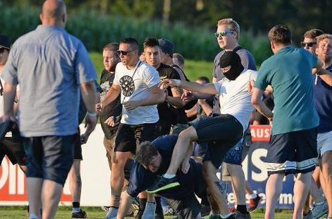 Leeds United fans injured and arrested as fight erupts with rival supporters during pre-season 'friendly'