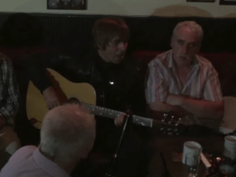 Watch Liam Gallagher surprise a bunch of old men with impromptu gig in a pub