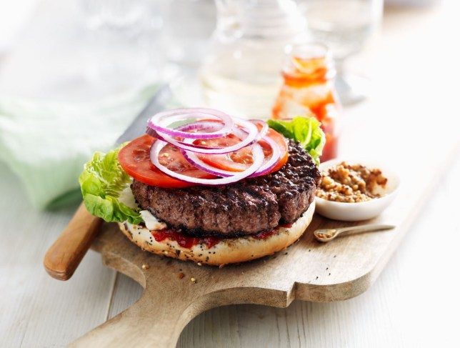 Marks and Spencer Cheese and pickle burger