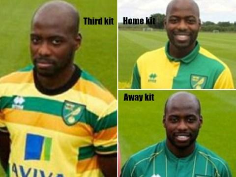 Youssouf Mulumbu's changing faces sum up Norwich City's new kits